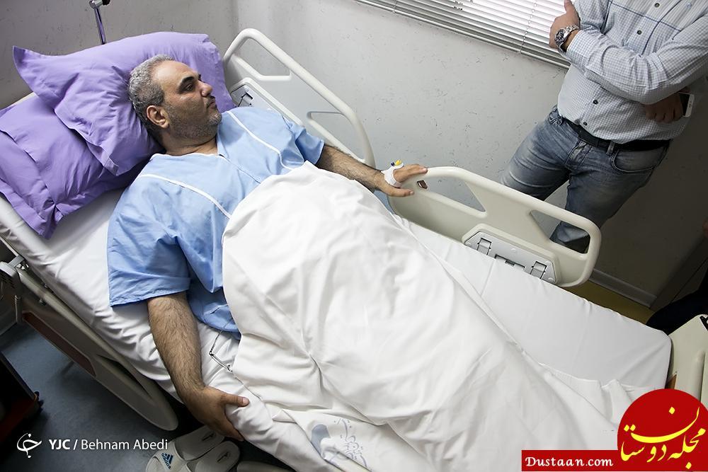 www.dustaan.com جواد خیابانی در بیمارستان بستری شد