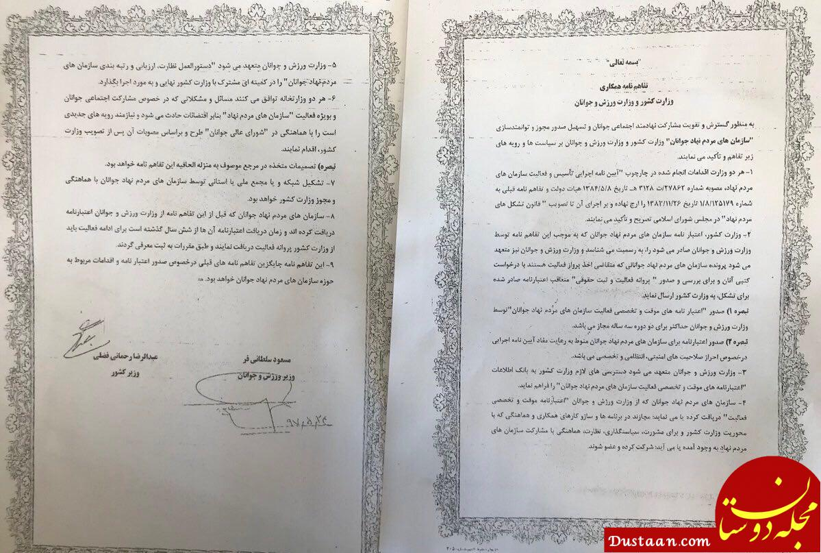 www.dustaan.com وزارت کشور ظرف دو هفته برای دو هزار سمن شناسه صادر خواهد کرد