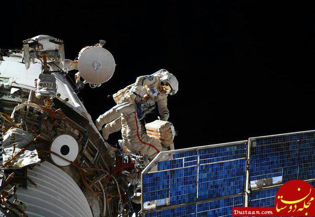 www.dustaan.com وقتی فضانوردان در فضا پیاده روی می کنند +تصاویر
