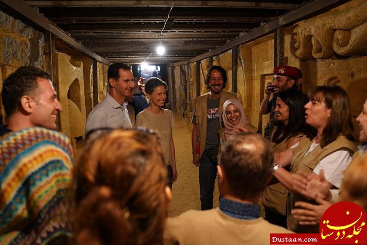www.dustaan.com بازدید اسد از تونل های مرگ تروریست ها +عکس