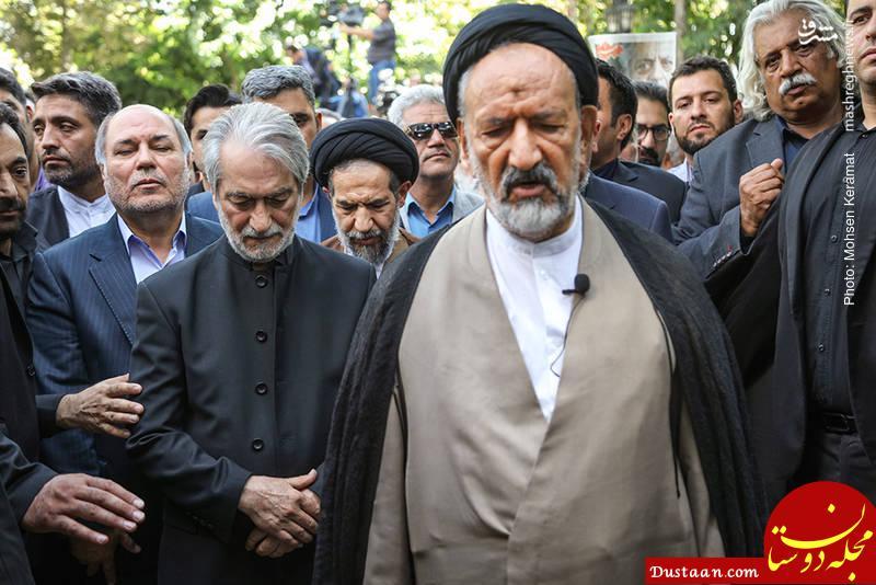 www.dustaan.com حضور امام جمعه تهران در مراسم تشییع آقای بازیگر +تصاویر