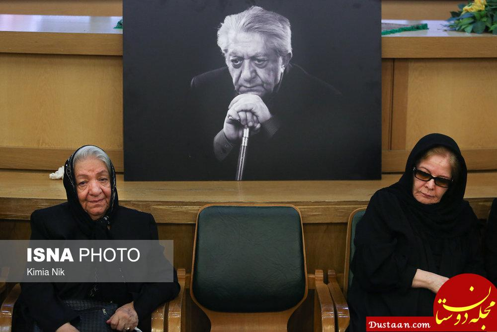 www.dustaan.com همسر و خواهر مرحوم انتظامی در مراسم ختم +عکس