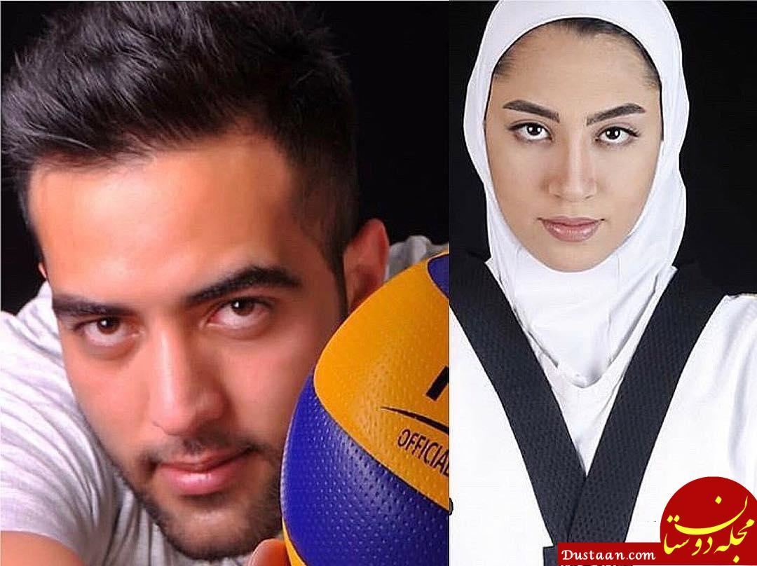 www.dustaan.com جزئیات ازدواج کیمیا علیزاده و حامد معدنچی +عکس ها