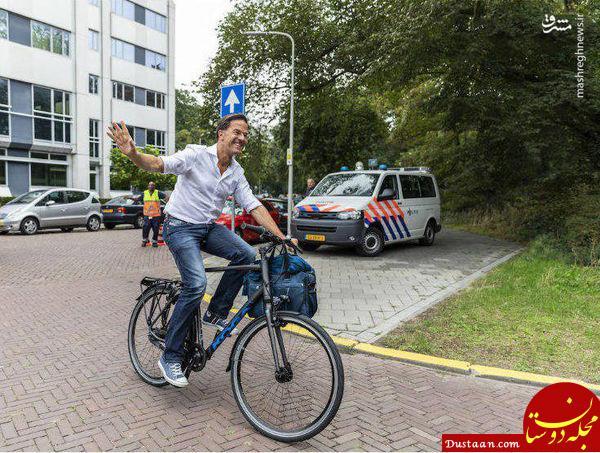 طوری که یک مقام سیاسی به سرکار می رود!+عکس