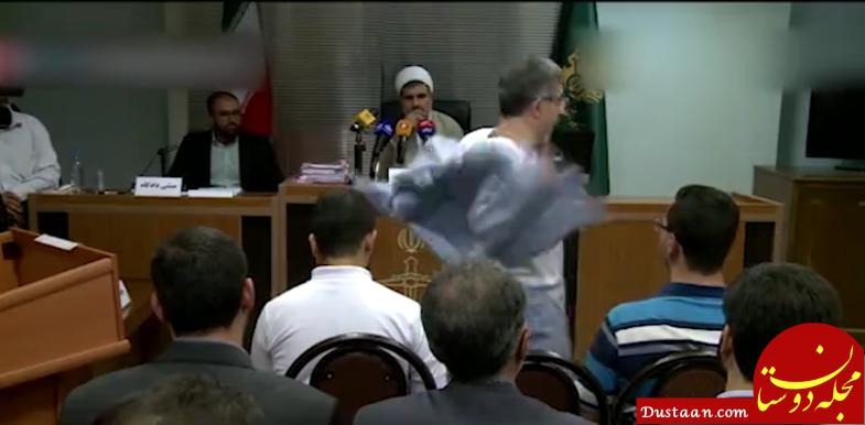 حرکات نامتعارف «مشایی» در جلسه دادگاه +تصاویر
