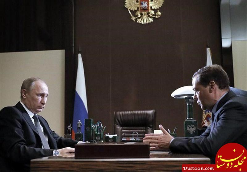آیا نخست وزیر روسیه قهر کرده است؟ +عکس