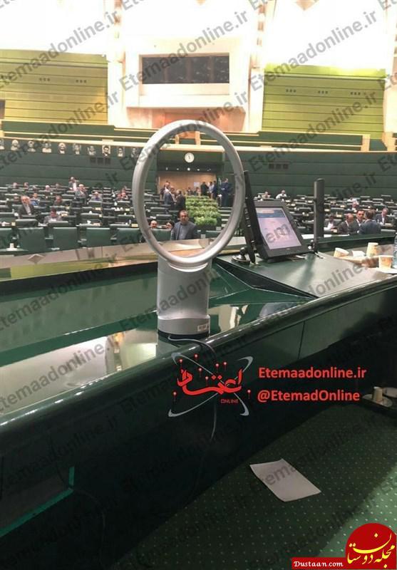 www.dustaan.com واکنش معاون دفتر رئیس جمهور به خبر پنکه روحانی +تصاویر