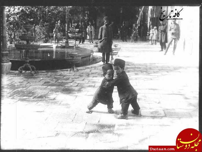 کشتی گرفتن آدمهای کوتوله در دوره قاجاریه