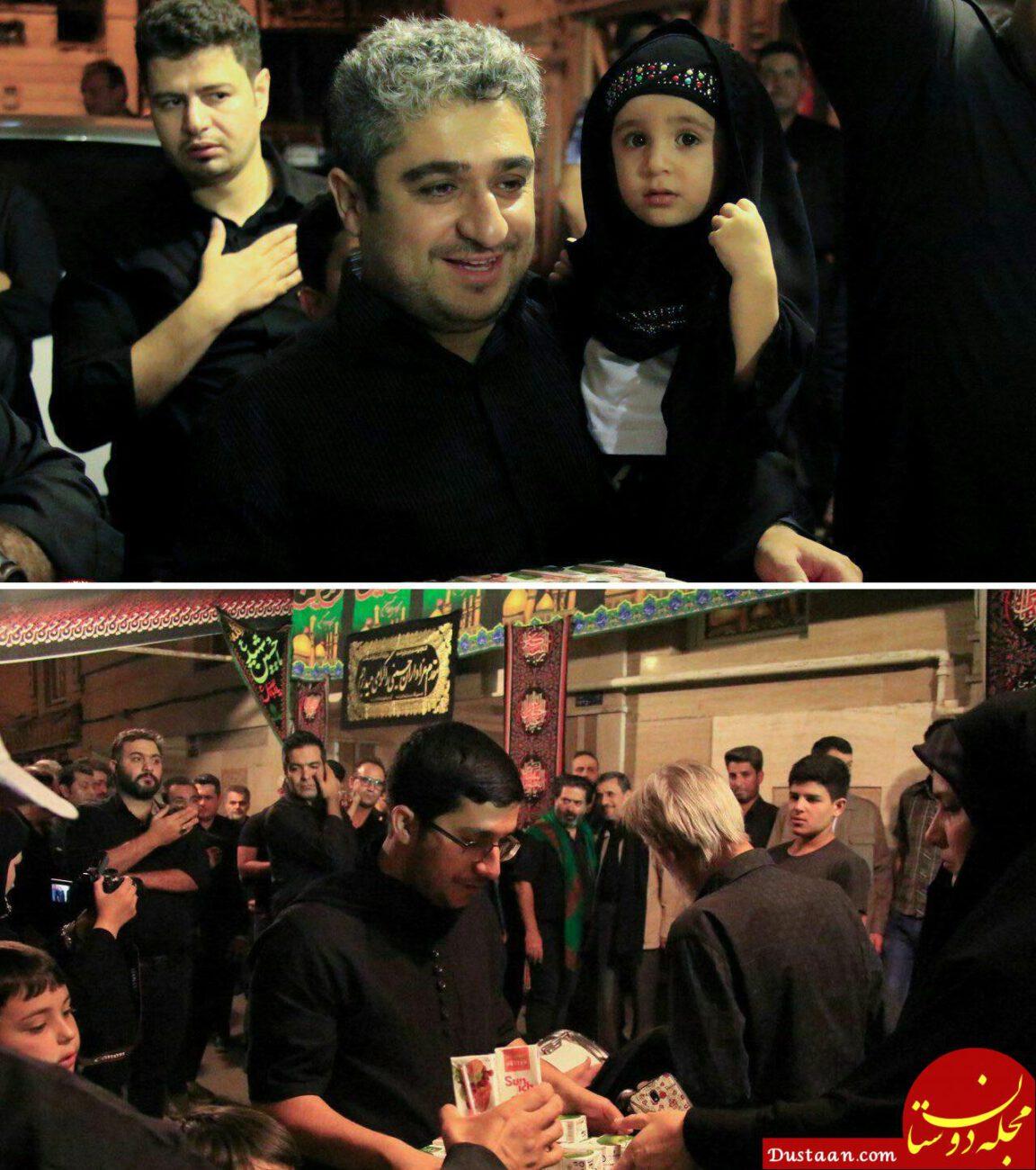 www.dustaan.com پسران احمدی نژاد در حال پخش نذری +عکس