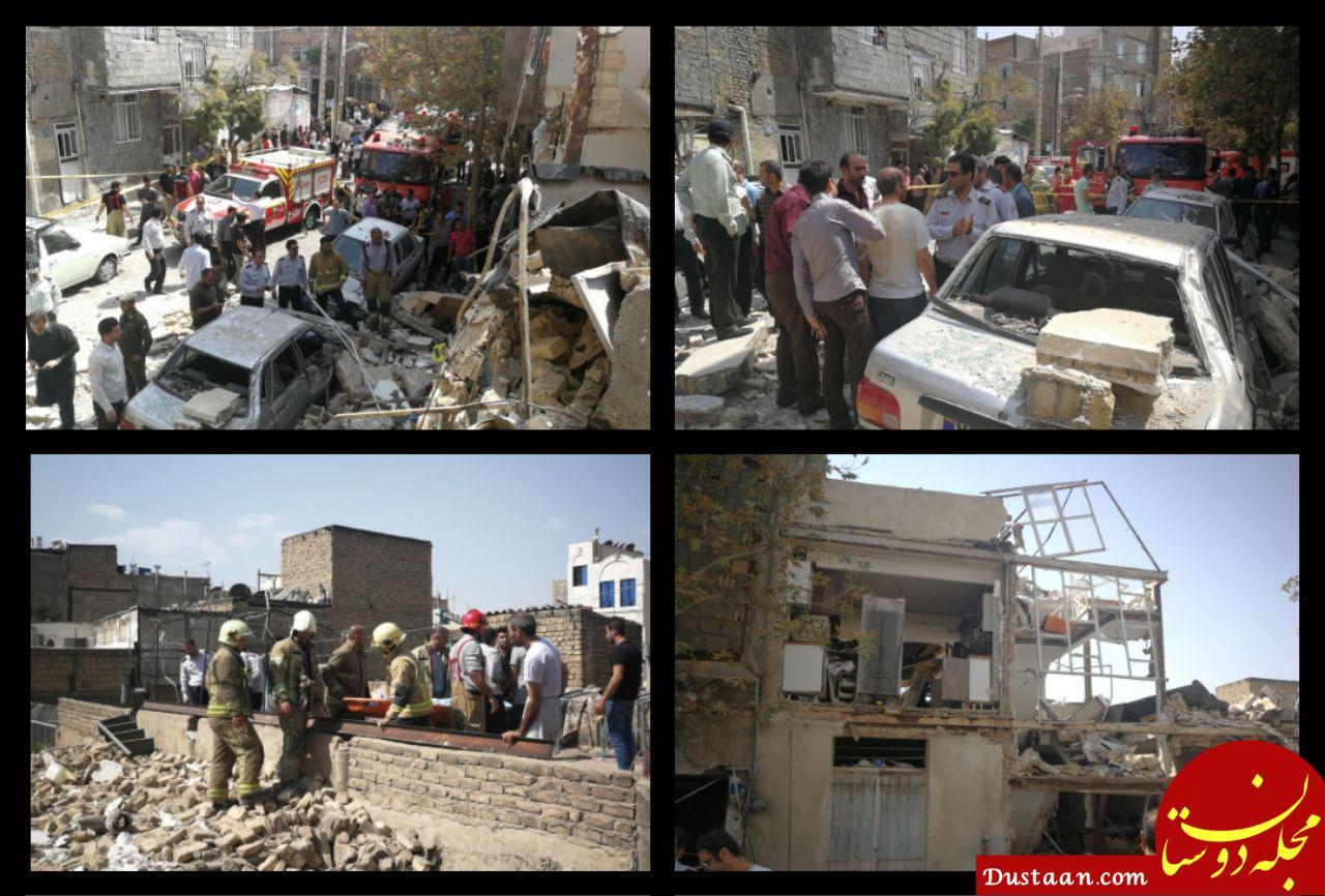 انفجار شدید در یک خانه مسکونی در منطقه تهرانپارس +تصاویر