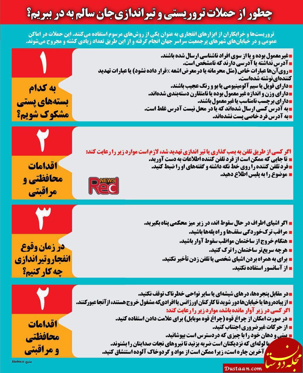 www.dustaan.com چطور از حملات تروریستی و تیراندازی جان سالم به در ببریم؟