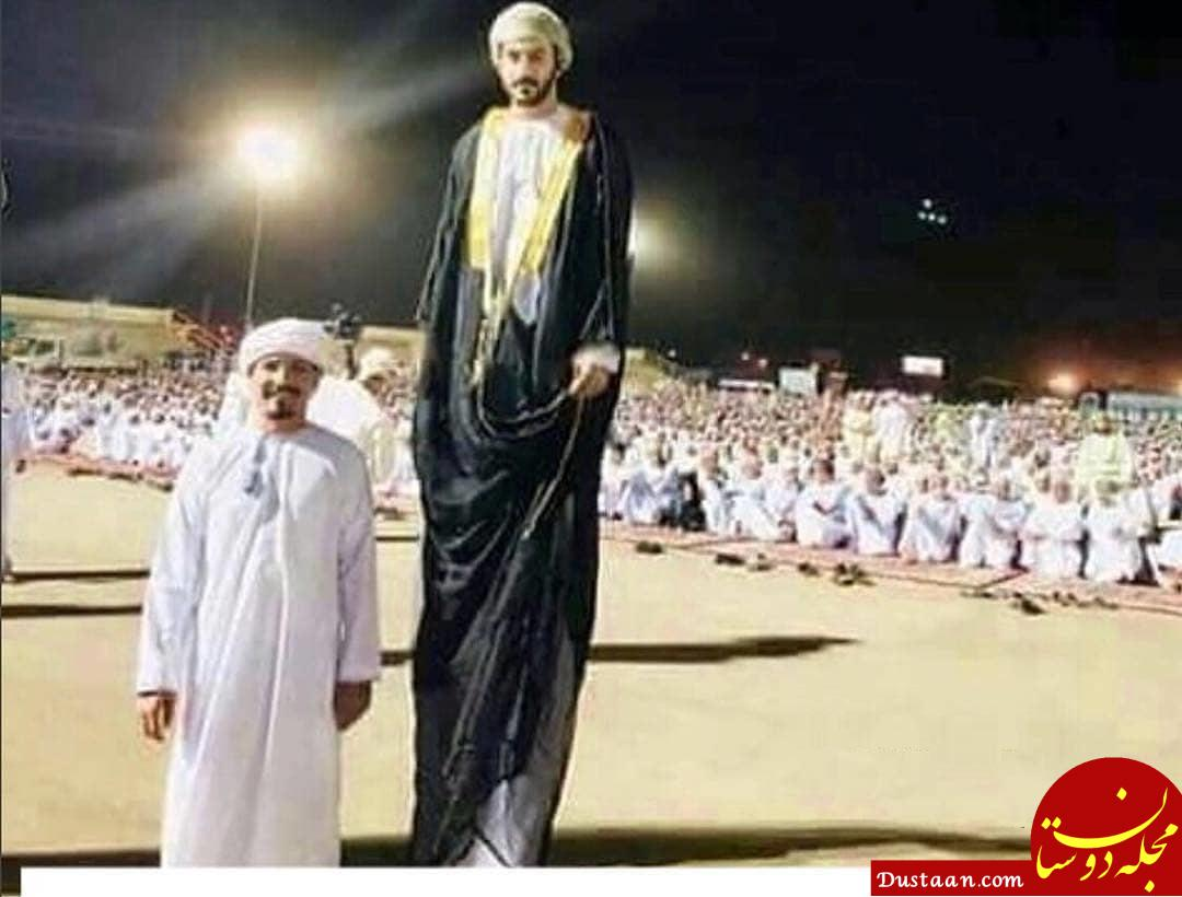 قد بلندترین مرد جهان در مراسم حج! +عکس