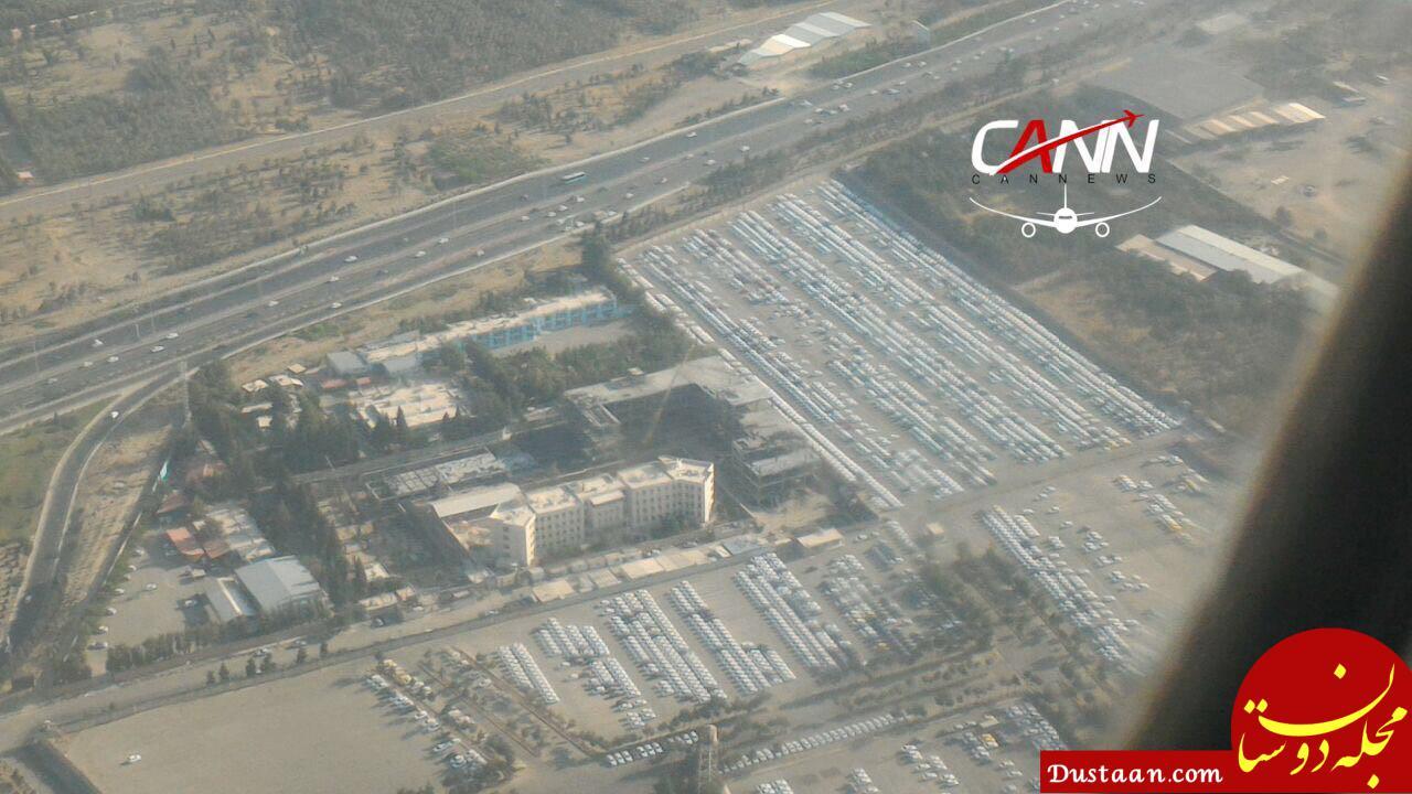 www.dustaan.com پارکینگ ایران خودرو از درون هواپیما؛ روز گذشته +عکس