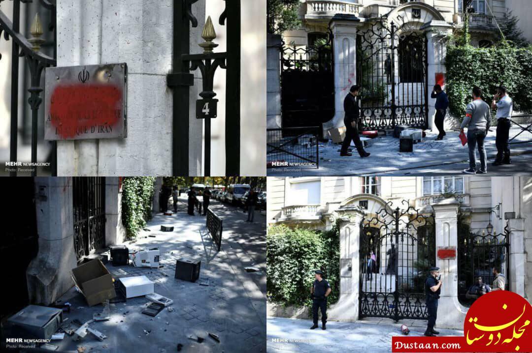 www.dustaan.com تصاویر حمله به سفارت ایران در پاریس