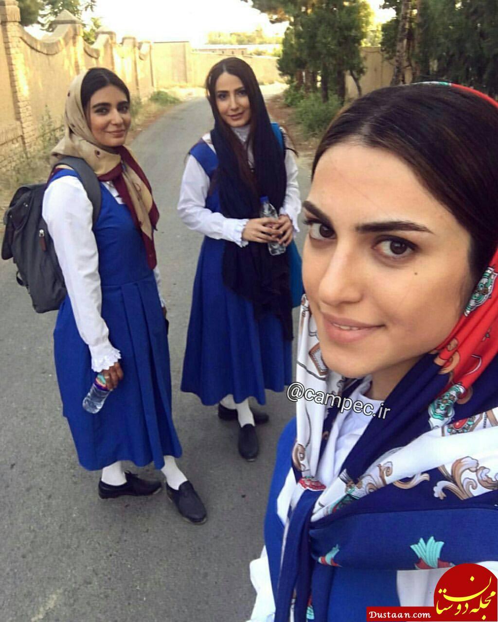 www.dustaan.com لیندا کیانی،سمیرا حسن پور و مهناز خوشخو در پشت صحنه دلدادگان
