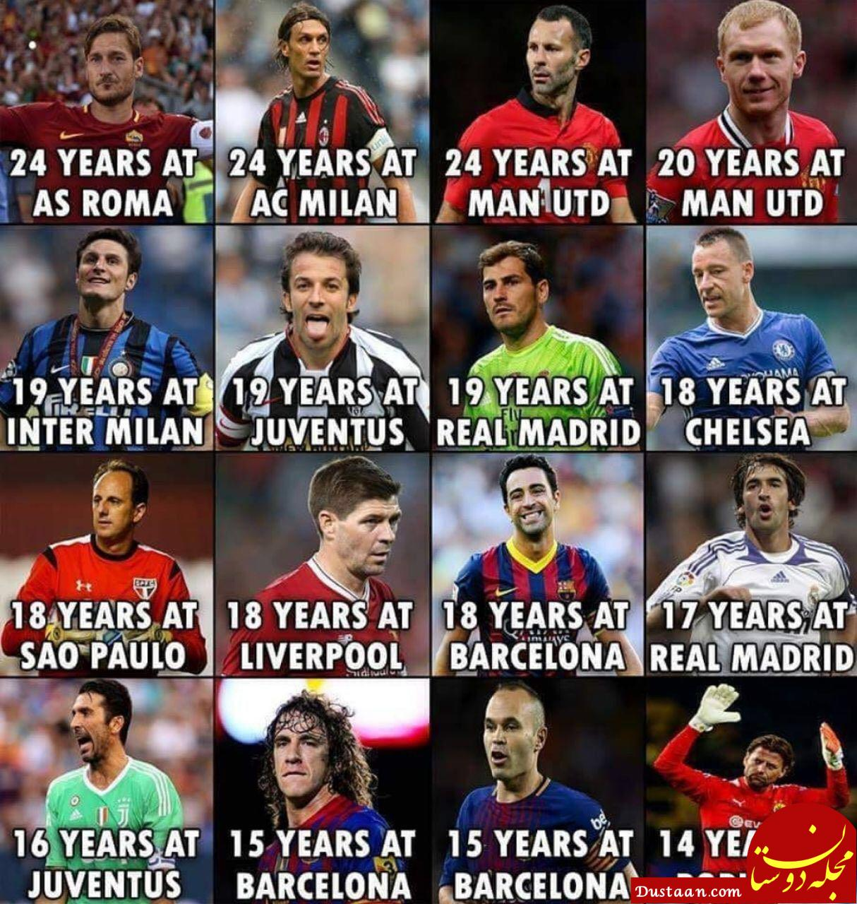 www.dustaan.com وفادارترین بازیکنان فوتبال جهان +عکس