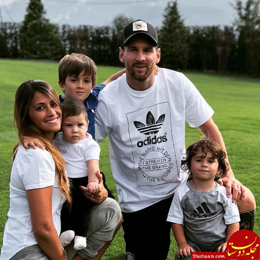 www.dustaan.com لیونل مسی در کنار همسر و 3 فرزندانش +عکس