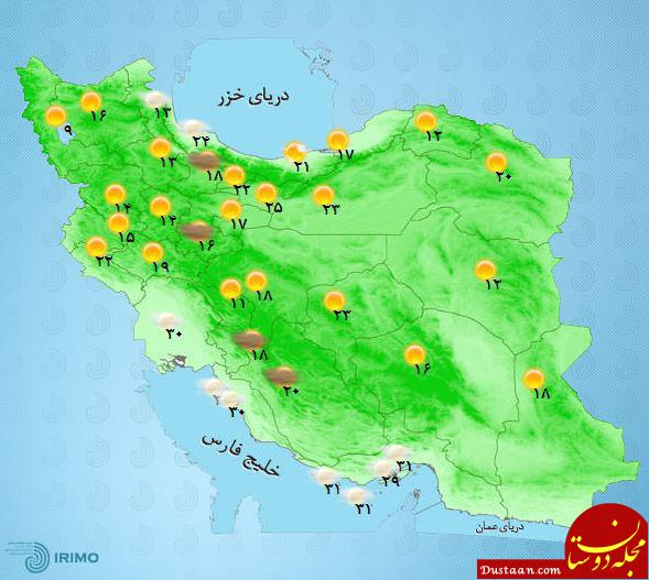www.dustaan.com گسترده ترین بارش چند ماه اخیر در راه است
