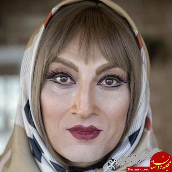www.dustaan.com گریم دیدنی آقای بازیگر در نقش یک زن! +عکس