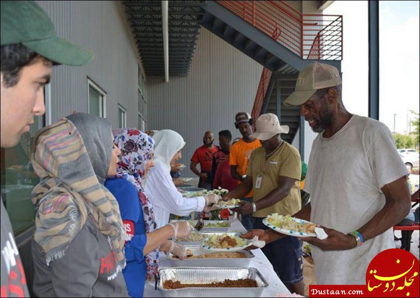 www.dustaan.com توزیع غذای نذری در تگزاس آمریکا! +عکس
