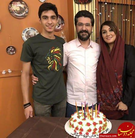 www.dustaan.com جشن تولد «امیرحسین مدرس» با حضور همسر و پسرش +عکس