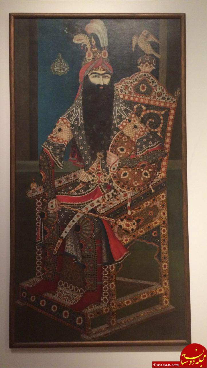 www.dustaan.com پرتره بزرگ فتحعلی شاه در کانادا +عکس