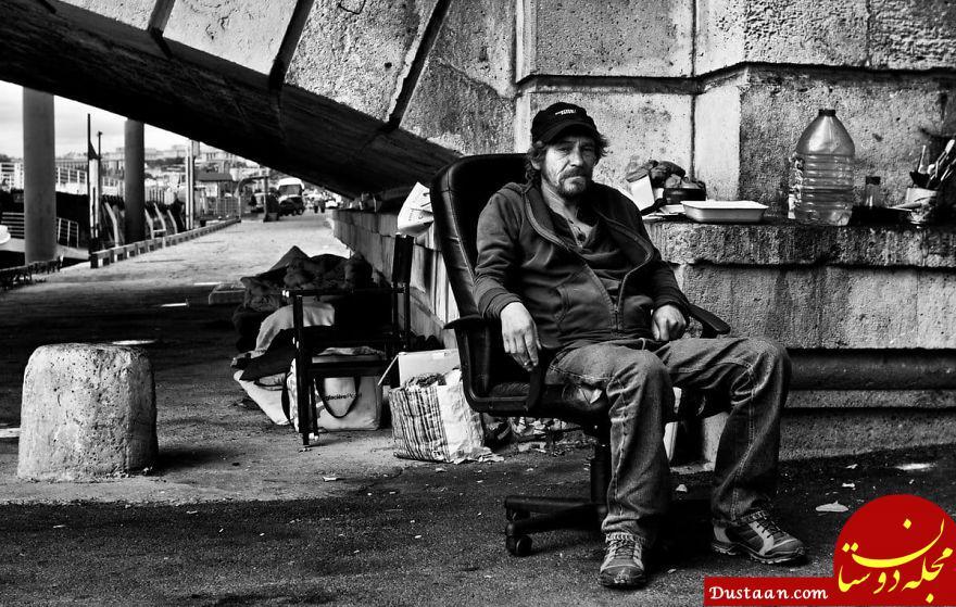www.dustaan.com زندگی عجیب کارتن خواب ها در پاریس +تصاویر