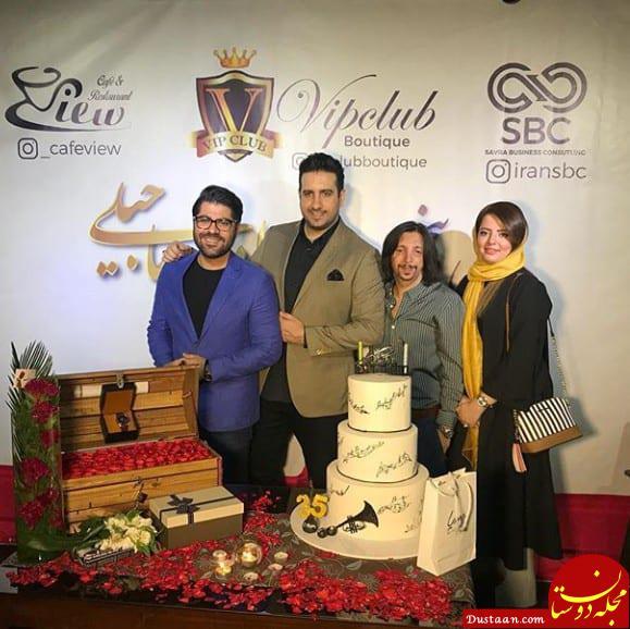 www.dustaan.com زوج معروف ماه عسل در تولد «امید حاجیلی» +عکس