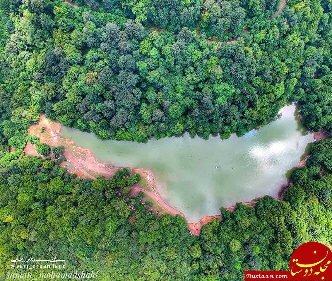 www.dustaan.com تصویری فوق العاده از دریاچه چورت در مازندران