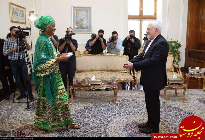www.dustaan.com پوشش نماینده سازمان ملل در دیدار با ظریف +عکس