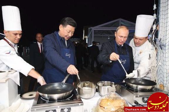 آشپزی پوتین و رئیس جمهور! +عکس