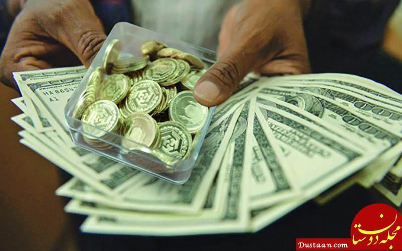 www.dustaan.com قیمت ارز و سکه کاهش یافت؛ دلار 13 هزار و 550 تومان