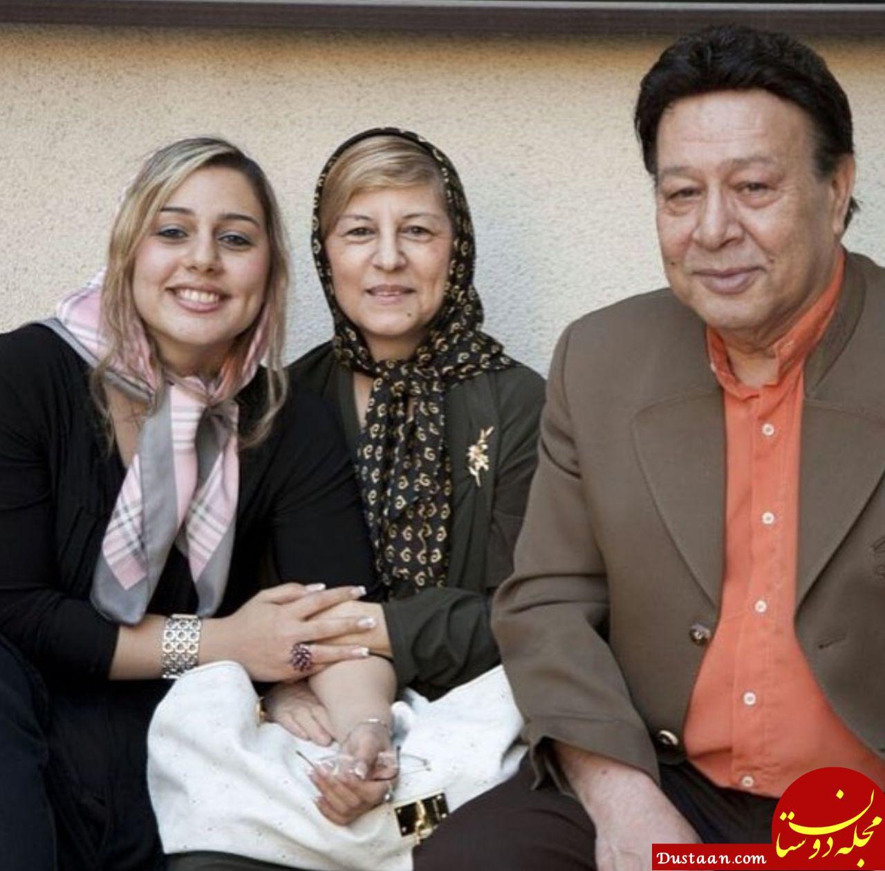 مرحوم حسین عرفانی به همراه همسر و دخترش مهسا +عکس