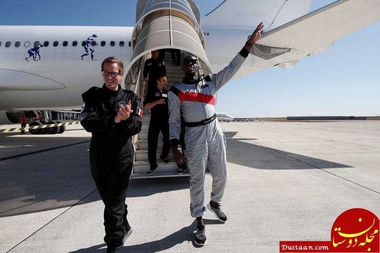 www.dustaan.com تمرینات عجیب فوتبالیست مشهور در فضا! +تصاویر