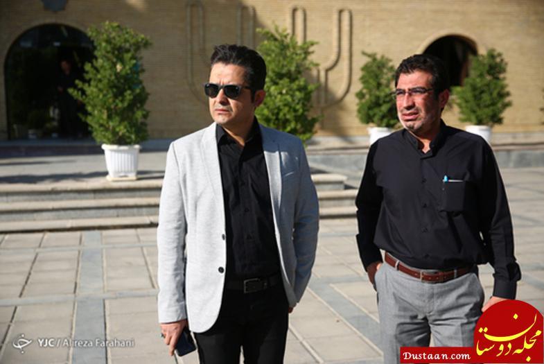www.dustaan.com بازیگران حاضر در مراسم تشییع پیکر «حسین عرفانی» +تصاویر