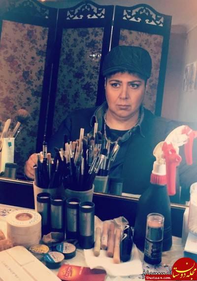 www.dustaan.com گریم مردانه خانم بازیگر در یک فیلم! + عکس