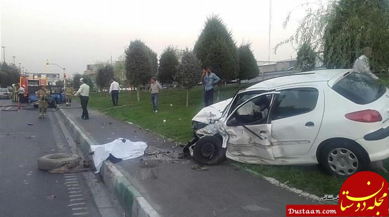 www.dustaan.com مرگ تلخ راننده خودرو حین تعویض لاستیک +عکس