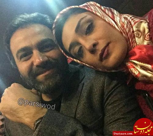 بازیگر سریال «دلدادگان» در کنار همسر واقعی اش +عکس