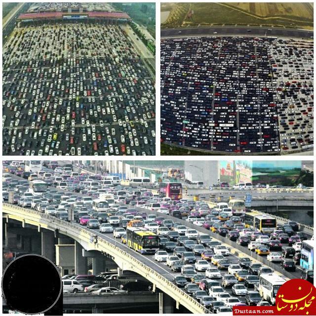 www.dustaan.com در این ترافیک عجیب 3 نفر فوت و 2 نفر به دنیا آمدند! +عکس