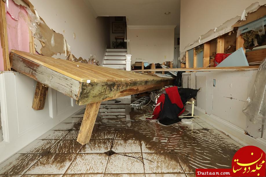 www.dustaan.com خسارات سنگین طوفان فلورانس +تصاویر