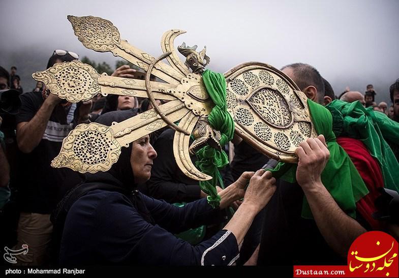 www.dustaan.com آیین سنتی علم بندان در ماسوله +تصاویر