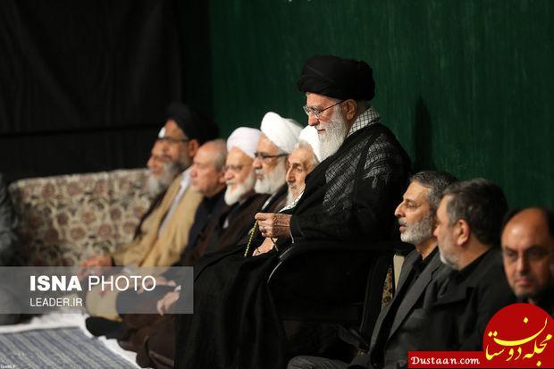 www.dustaan.com مراسم عزاداری امام حسین (ع) با حضور رهبری +تصاویر