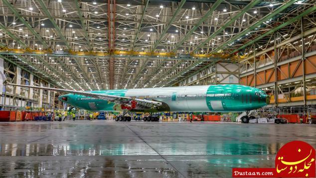 www.dustaan.com ساخت بزرگترین هواپیمای 2 موتوره در بوئینگ +عکس