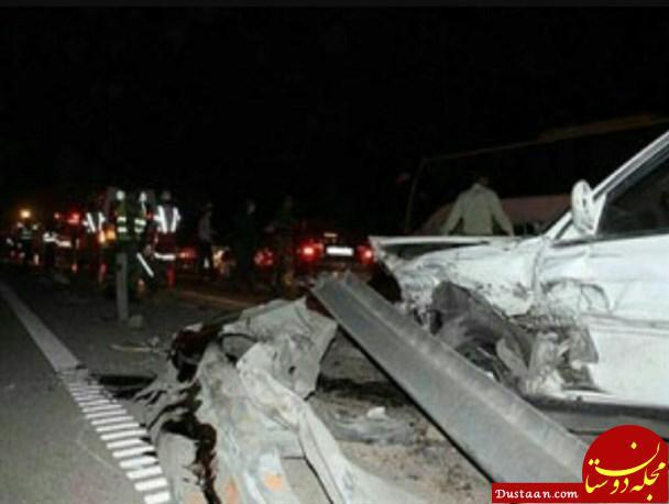 www.dustaan.com آخرین آمار تصادف زنجیره ای در آزادراه قم   گرمسار