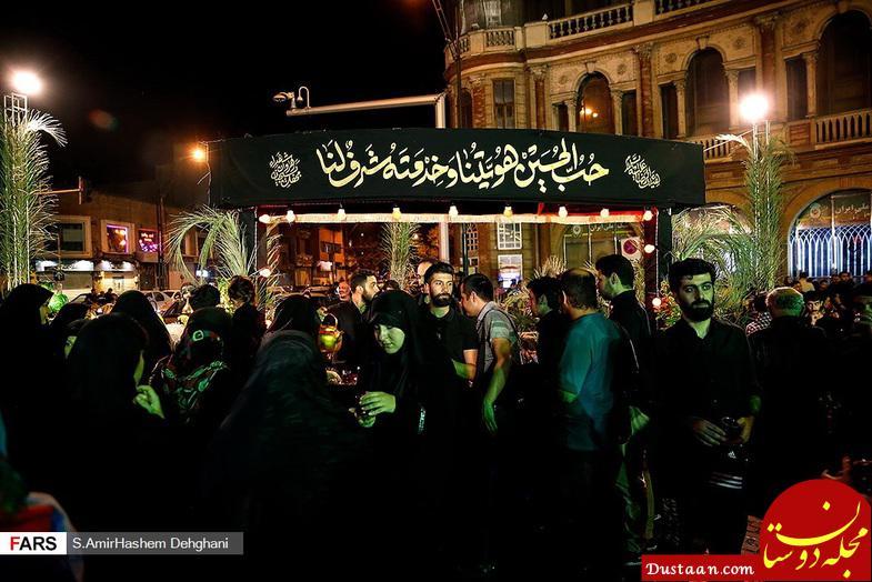 www.dustaan.com پذیرایی جالب یک موکب در تهران +تصاویر