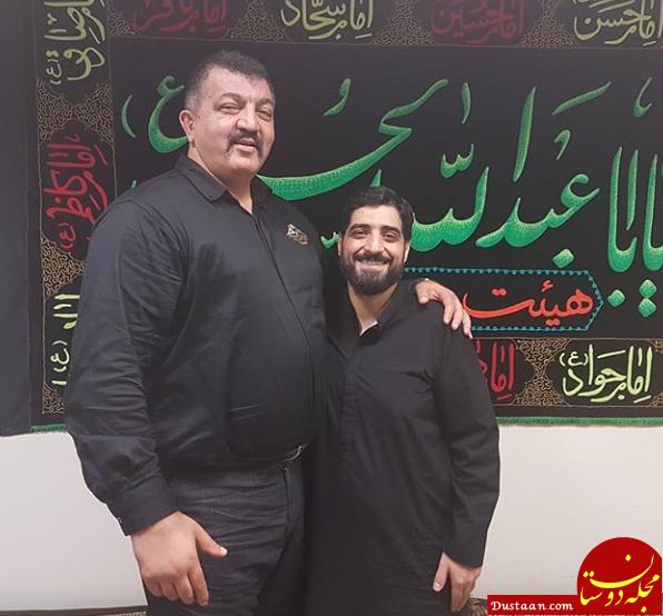 www.dustaan.com بازیگر «شب های برره» و مداح سرشناس در یک قاب +عکس