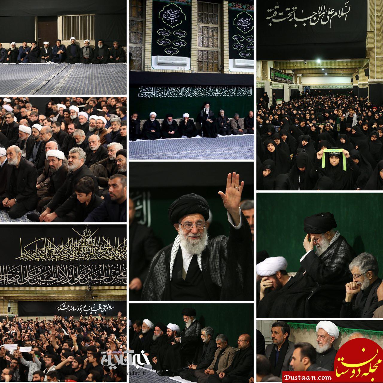 www.dustaan.com از قالیباف تا احمدی نژاد در عزاداری شام غریبان +عکس