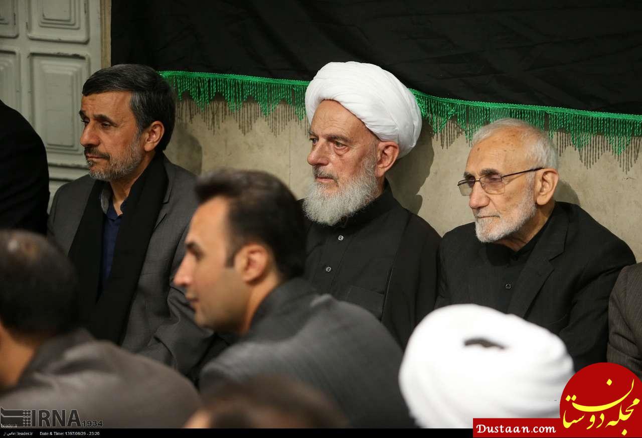 www.dustaan.com احمدی نژاد در مراسم شام غریبان بیت رهبری +عکس
