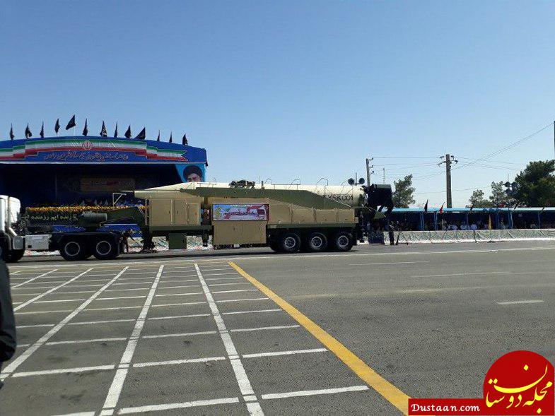 www.dustaan.com عکس: نمایش سه موشک بلندبُرد سپاه در رژه امروز تهران