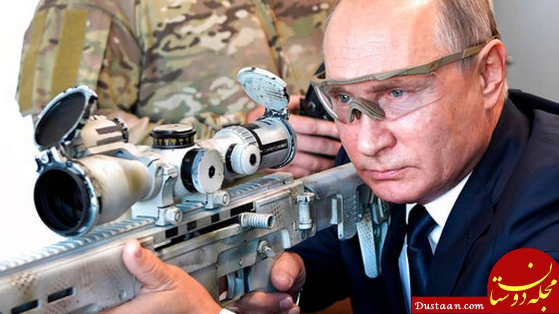 www.dustaan.com تیراندازی رئیس جمهور روسیه با تک تیرانداز جدید کلاشینکف +عکس